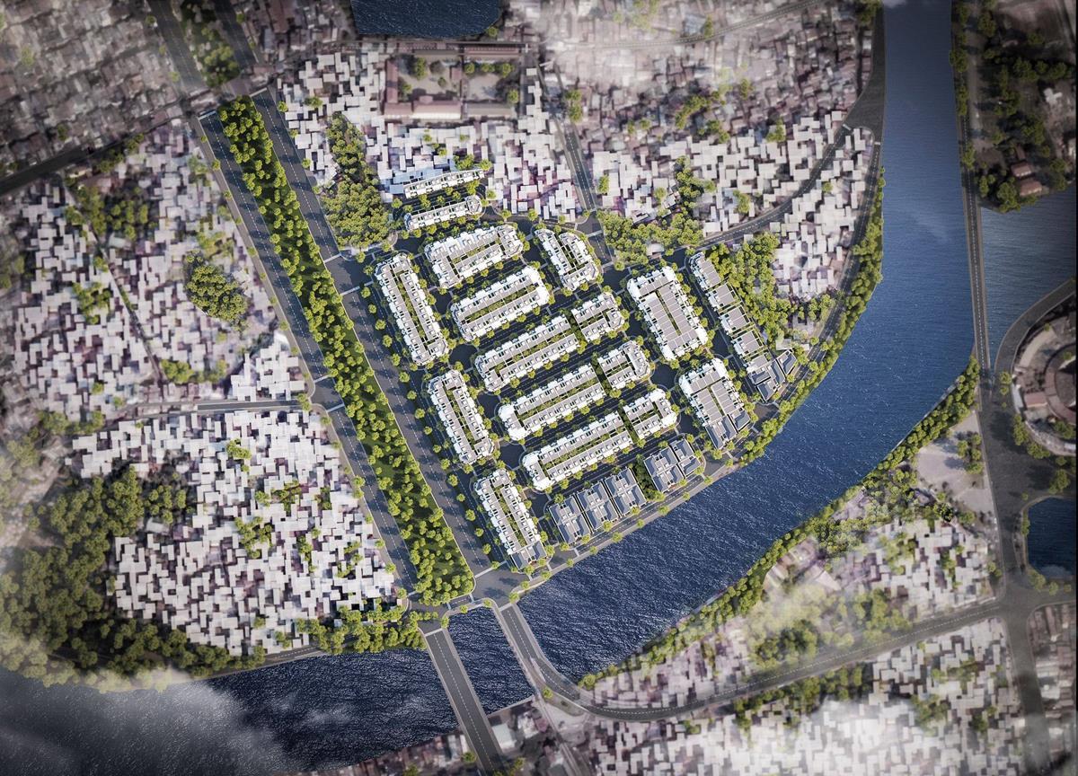 Phối cảnh dự án hoàng huy river side sông cấm